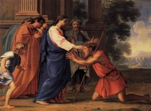 Christ healing the blind man - Eustache le Suer