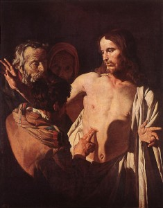 The Incredulity of St Thomas - Matthias Stom - 1621