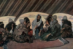 """Jethro & Moses, as in Exodus 18"" by James Tissot, 1902"