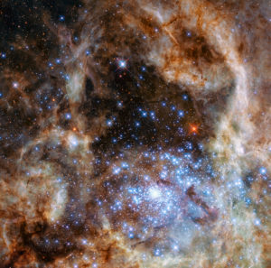 Hubble Telescope - Cluster of massive stars in Tarantula Nebula