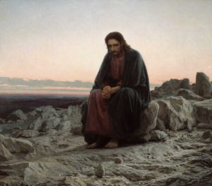 Christ in the Wilderness - Ivan Kramskoy - 1872 (small)