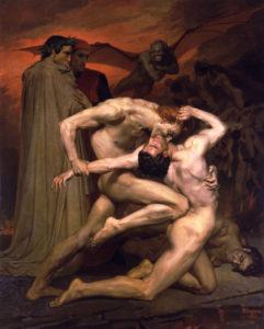 Dante & Virgil in Hell - William Adolphe Bouguereau, 1850